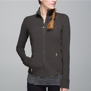 Rare Lululemon define jacket with Gold hardware